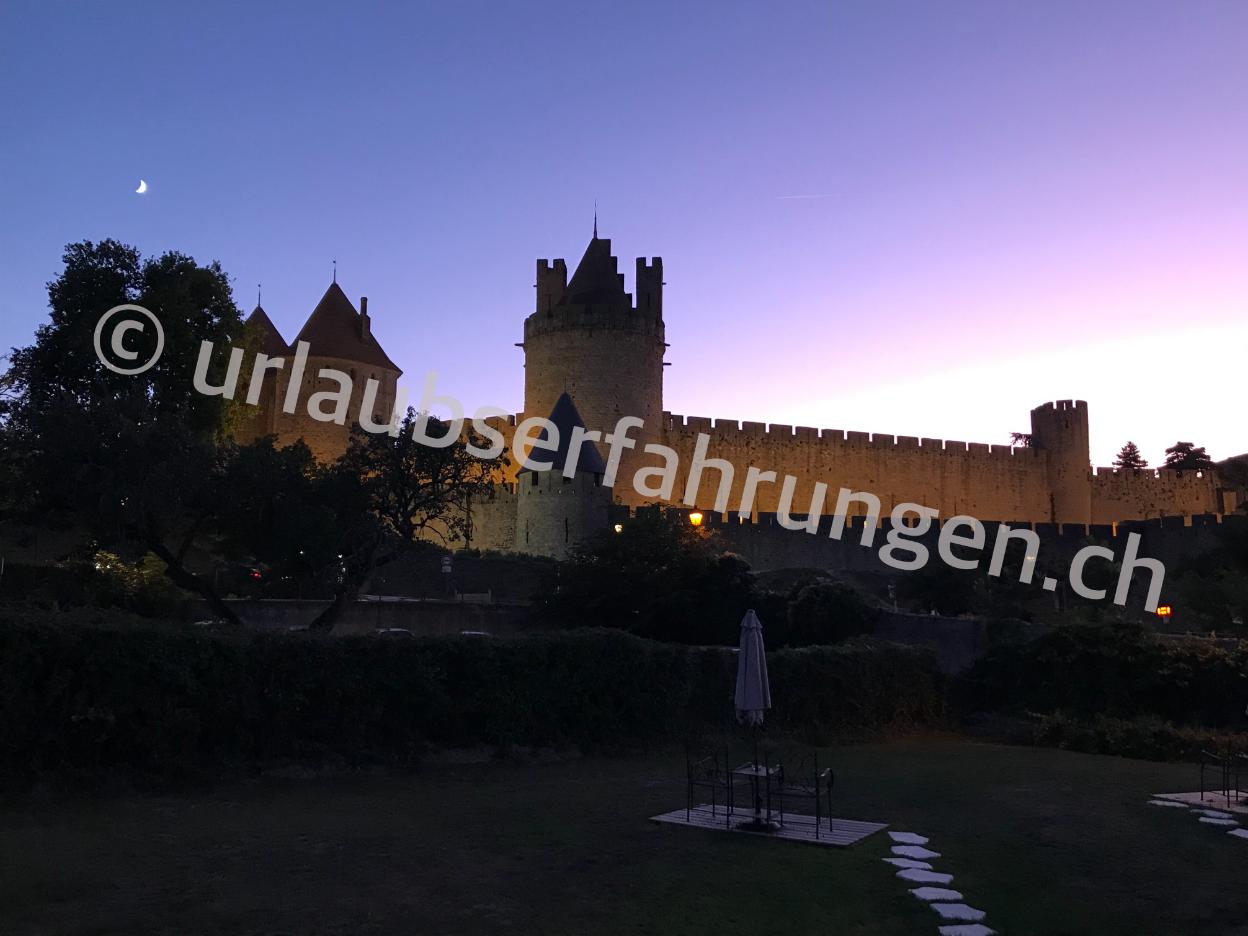 Ansicht auf Carcassonne, Weltkulturerbe in Frankreich