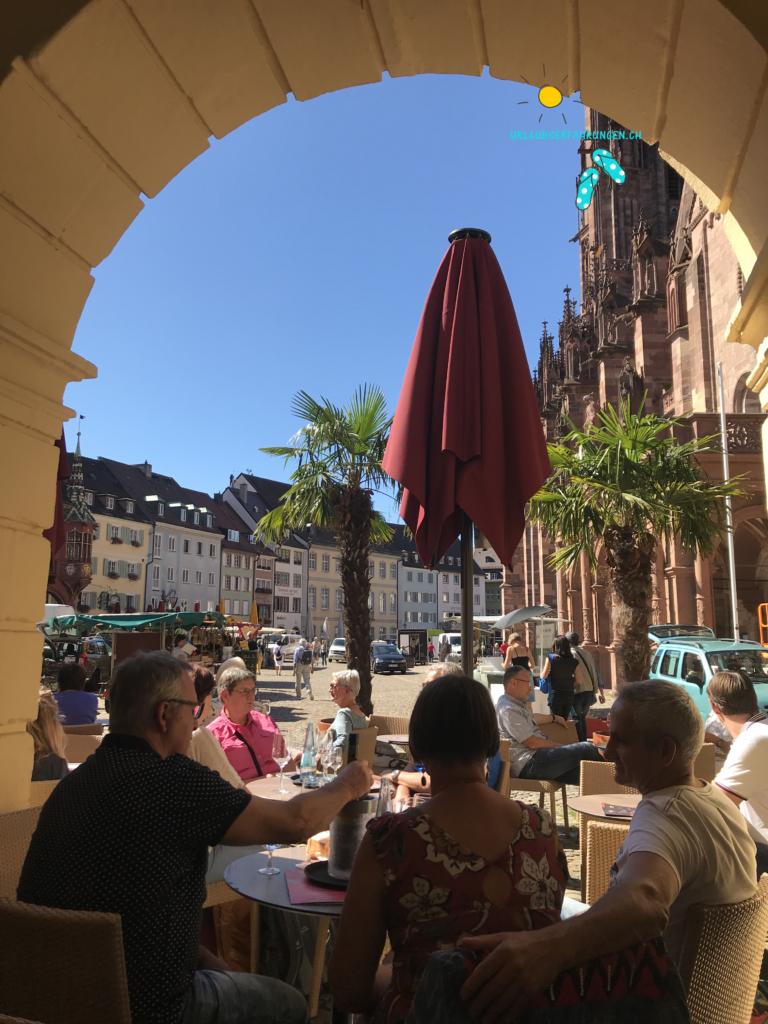 Blick aus der Wacht auf den Marktplatz