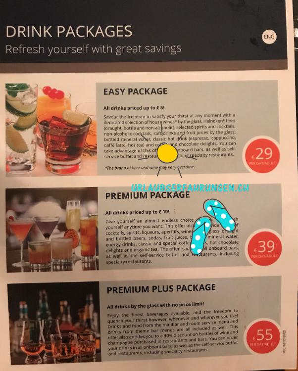 Reisebericht Kreuzfahrt Essen und Getränke?