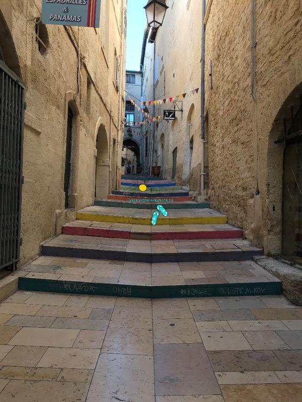 Verlassene Gassen in Montpellier?