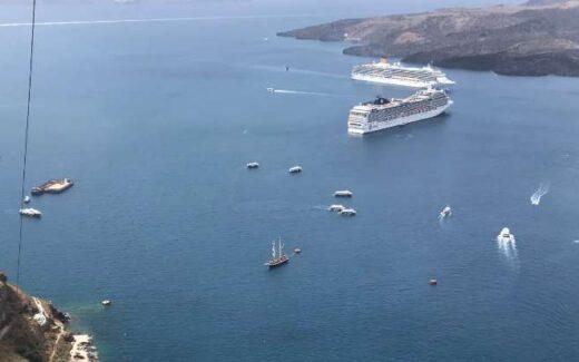 Bucht von Santorin