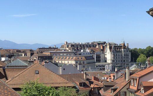 Über den Dächern von Lausanne