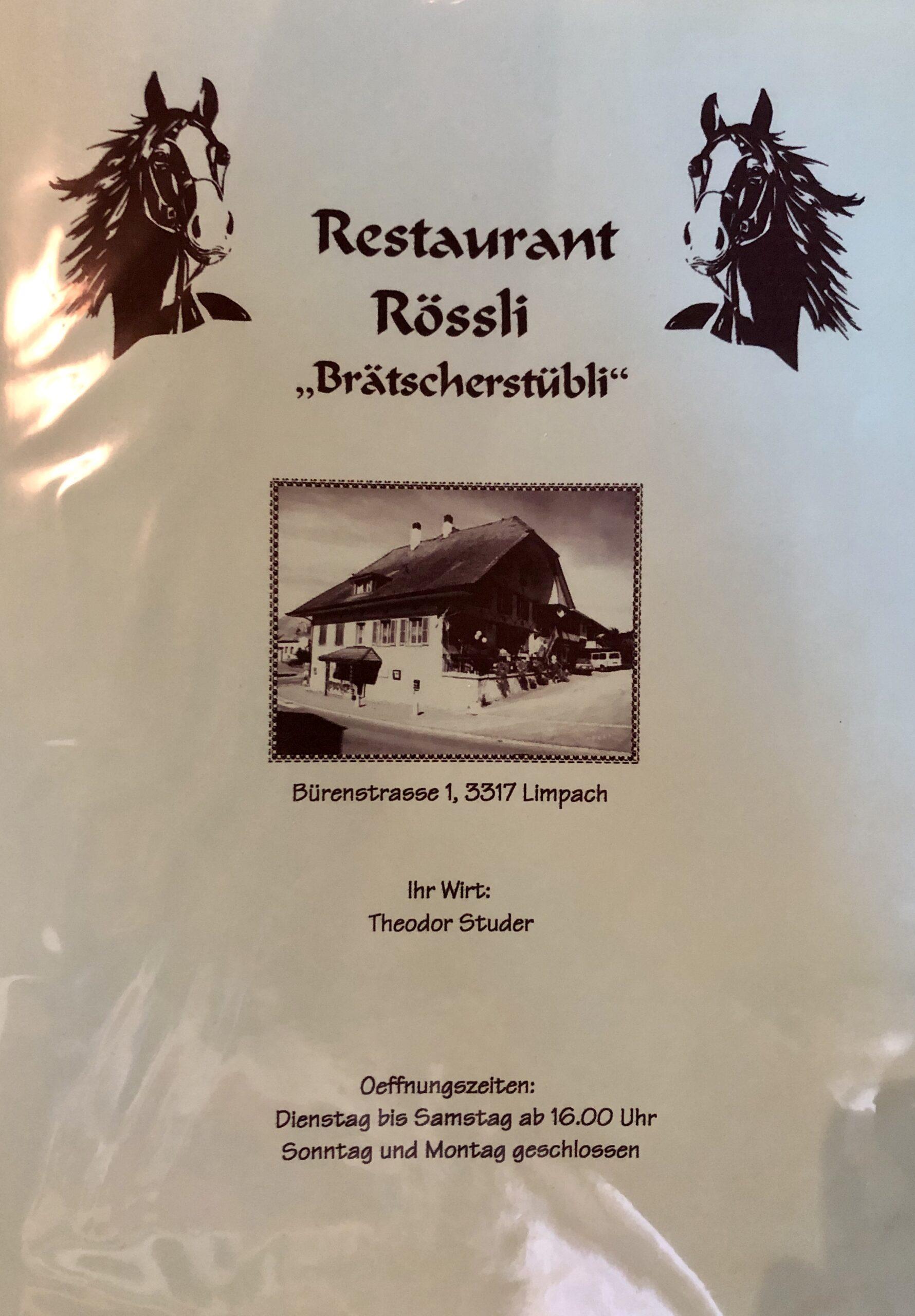 Restaurant Rössli Limpach