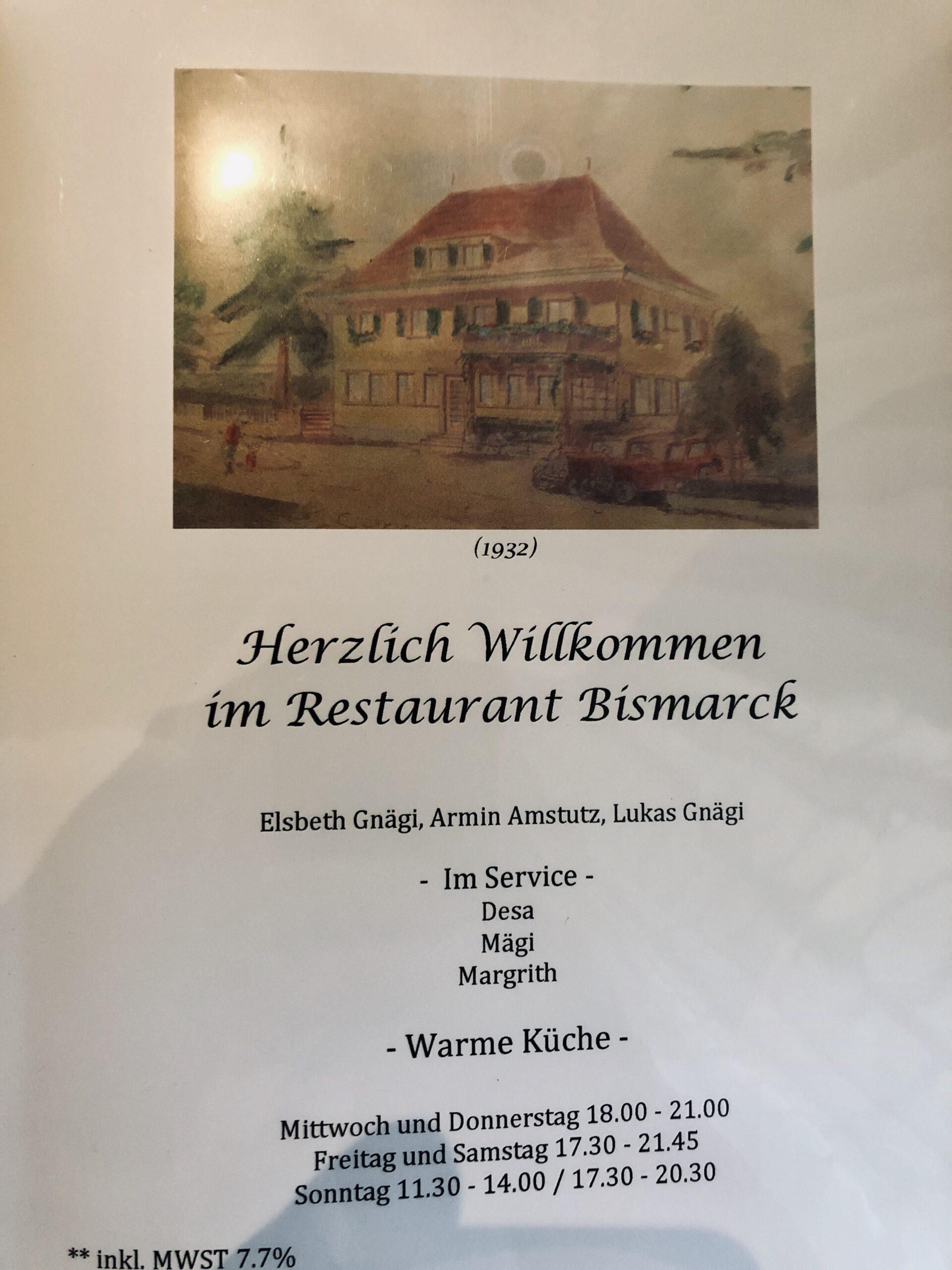 Restaurant Bismarck Küttigkofen